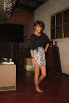 black top - from greenhills skirt - shoe gallery shoes