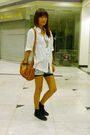 White-thrifted-shirt-black-keds-high-cut-shoes-brown-diesel-bag-accessories-