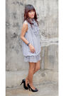 Gray-archive-dress-black-bought-online-shoes