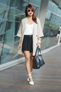 camel the ramp crossings coat - black Ever New shorts