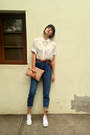 Blue-mom-jeans-topshop-jeans-white-white-h-m-blouse