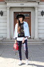 Sky-blue-oversized-denim-vintage-jacket-ruby-red-topshop-bag