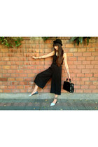 black bowler hat H&M hat - black faux leather Topshop bag