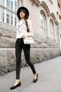 Black-skinny-topshop-jeans-black-fedora-h-m-hat