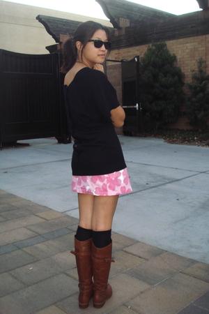Target sweater - skirt - socks - Jessica Simpson boots