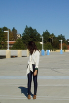 blue American Apparel pants - green Forever 21 t-shirt - beige Style & Co shoes