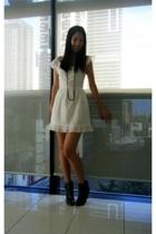 Something by Natalie Wood dress - diva necklace - Topshop jacket