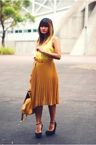yellow beginning boutique top - mustard asos bag
