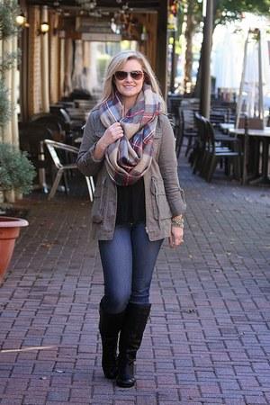 Target scarf - black sam edelman boots