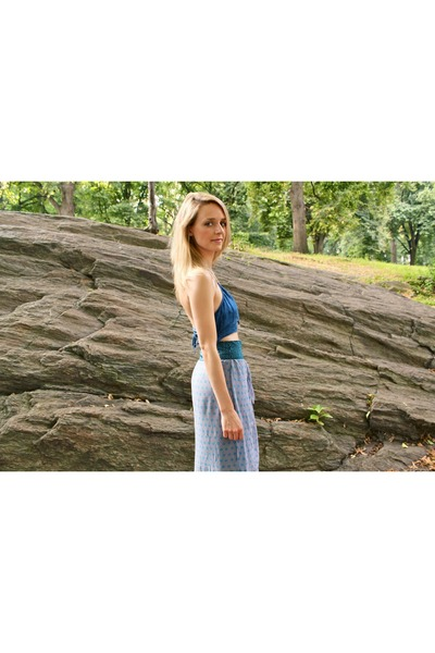 blue jeans calvin klein top - sky blue Anthropologie skirt