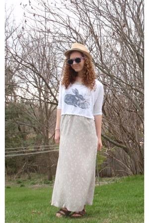 Betula sandals - my aunties old dress - H&M hat - Pac Sun sunglasses
