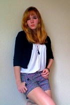 J Crew shorts - Sparkle & Fade shirt - Marc by Marc Jacobs necklace - Theory swe