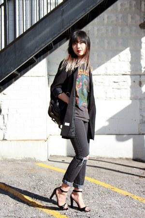 J Brand jeans - vintage bag - Zara heels