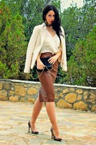 leather Zara shirt