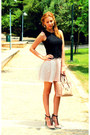 Black-zara-top-light-pink-bsb-skirt