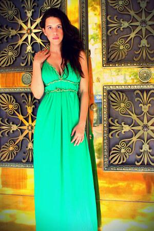 green maxi dress ON LINE Fashion dress
