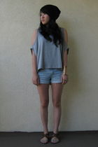 nasty gal vintage blouse - shorts