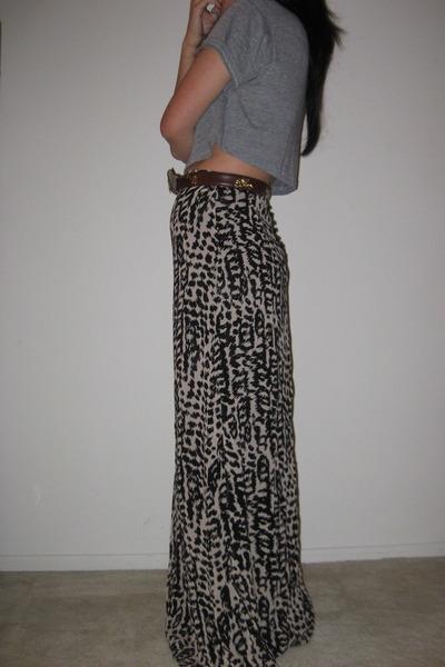 vintage belt - H&M skirt - American Apparel shirt