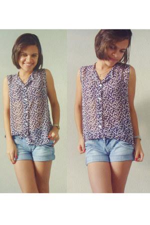 navy A Modelinho blouse