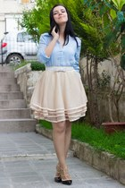 Cozbest shirt - Sheinside skirt - Martofchina heels