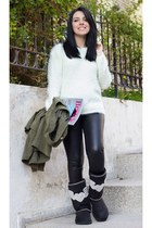 romwe sweater - Dusi Tasarim boots - Stunner247com leggings - romwe iphone case