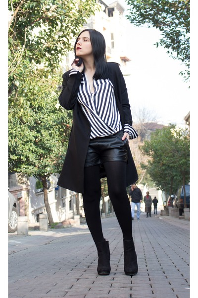 romwe shirt - Zealotries coat - OASAP shorts