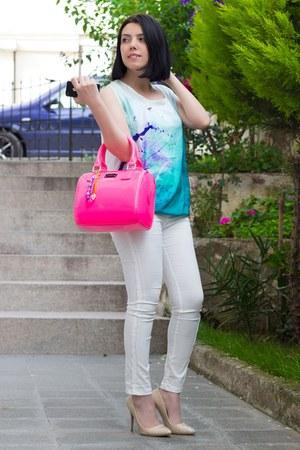 Rolmoda top - romwe leggings - pauls boutique bag