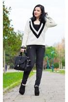 Choies sweater - OASAP bag