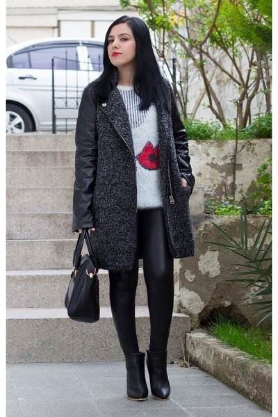 Sheinside sweater - Zealotries boots - romwe coat - Stunner247 leggings