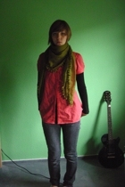 H&M scarf - blouse - shirt - H&M jeans