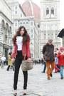 Black-christian-louboutin-shoes-ruby-red-balmain-jacket-white-jason-wu-shirt