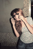 glasses - Zara shirt - scarf