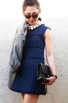 Zara dress - Chanel bag - Ray Ban sunglasses
