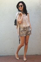 JCrew shorts - Chanel bag - Theory top - Jimmy Choo flats