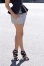 Club-monaco-shorts-ray-ban-sunglasses-jimmy-choo-heels-h-m-top
