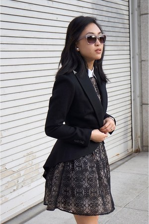 Ralph Lauren jacket - asos dress - Brooks Brothers shirt - Jimmy Choo flats
