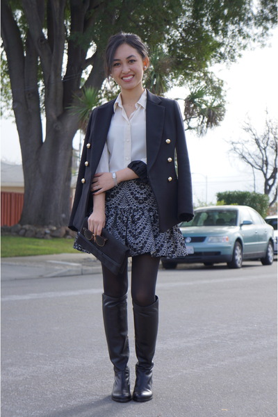 asoscom skirt - Jimmy Choo boots - 31 Phillip Lim jacket - See by Chloe blouse