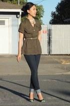 Gap shirt - Joes Jeans jeans - DIY heels