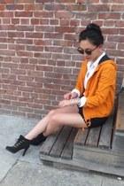 Urban Outfitters jacket - Ralph Lauren boots - rachel roy shorts
