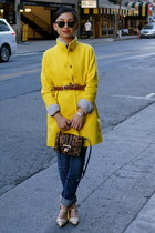 Crewcuts coat - tory burch shoes - Guess jeans - Jimmy Choo bag