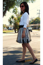 Twelve x Twelve skirt - Gap sweater - Ray Ban sunglasses - Urban Outfitters ring