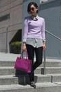 Salvatore Ferragamo bag - Gap sweater - kensie shirt - Zara pants - Aldo flats