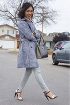 Studio Pelle coat - jordache jeans - Salvatore Ferragamo bag
