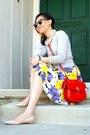 f21 dress - Zara sweater - Dooney & Bourke bag - Jimmy Choo flats