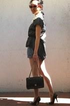 Chanel bag - DIY shoes - BCBGeneration dress - 7 for all mankind romper