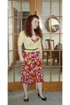 Diane Von Furstenburg dress - Lovely Girl sweater - vintage belt - Mint Drop sho