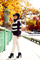 white Joe Fresh vest - black Michael Michael Kors boots