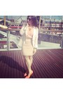 Salmon-h-m-shoes-light-pink-zara-blazer-peach-forever-21-skirt
