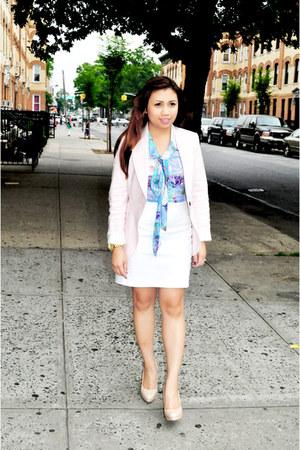 nude Aldo shoes - light pink Zara jacket - purple Tulle top