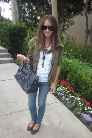 balenciaga bag - Gucci sunglasses - lanvin flats - Chanel necklace